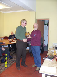 Pete Brown receiving the Rider of the Year award.