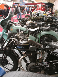 A line up of the bikes