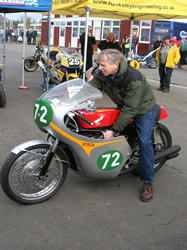 Brian Glover on the Honda